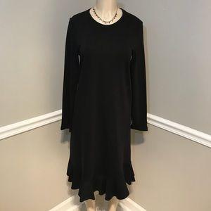 ZARA NWT Black Long Sleeve Knit Dress Size Medium